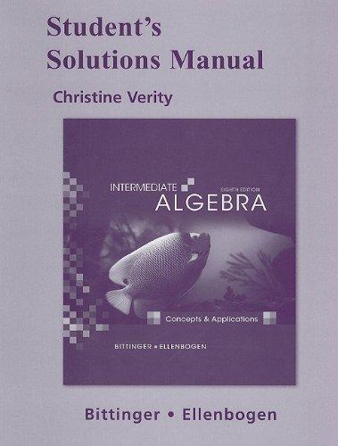 Intermediate Algebra: Concepts & Applications