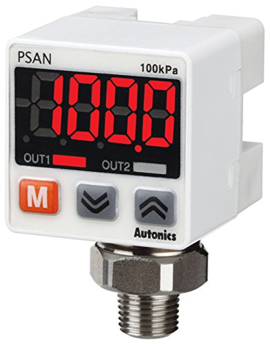 (AUTONICS PSAN-1CPV-NPT1/8 Sensor, Pressure, Standard pressure, Connector Type, 0 to 1,000kPa, PNP open collector /1-5 VDC Out, Port NPT1/8, 12-24VDC..)