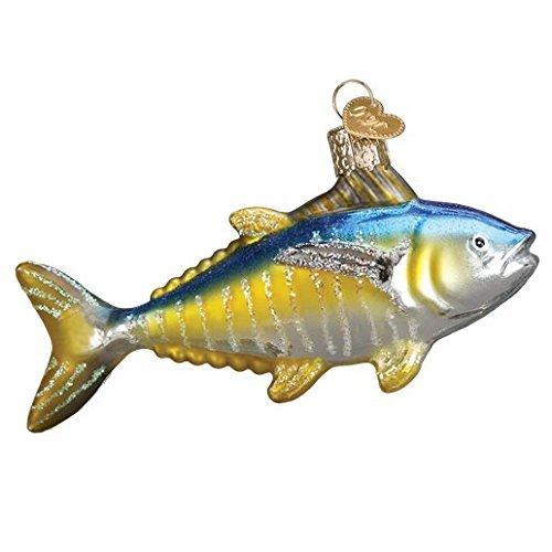 Fish Old World Christmas Ornament (Old World Christmas Yellowfin Tuna Glass Blown Ornament)