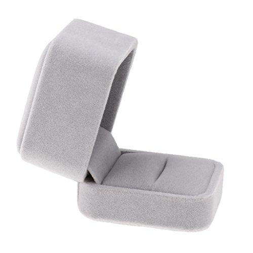 [해외]Baosity 반지 상자 결혼 반지 악세사리 반지 케이스 선물 상자 전 6 색 고품질 우아한-그레이 / Baosity Ring Box Wedding Ring Accessories Ring Case Gift Box All 6 Colors High Quality Elegant - Grey