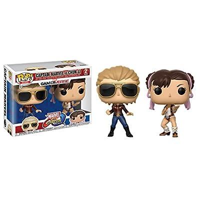 Funko POP! TV: Marvel Vs Capcom - Captain Marvel Vs Chun-Li Collectible Figure: Funko Pop! Games:: Toys & Games