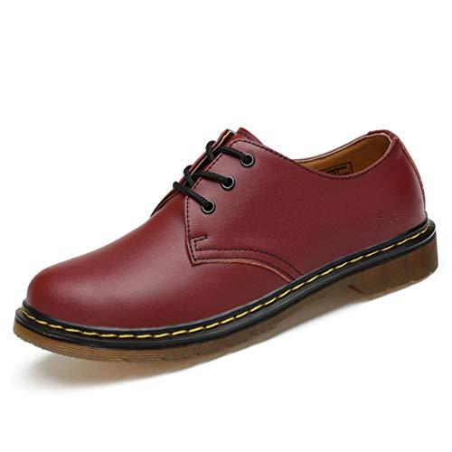 Vino Botas Martin Casuales Zapatos Cuero De Hombres Los Tinto Trabajan 0zwHHA