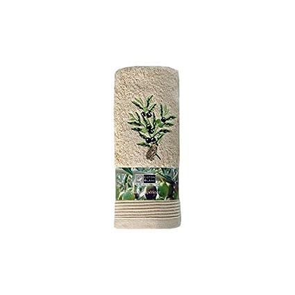 Serra Home Hotel y Spa Miss Gaya 50 x 100 cm Beige bordado toalla zeytun suave