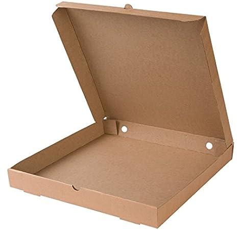 BIOZOYG Caja para Pizza I Pizza Cajas 31x31 cm Pizza cartones 100 Piezas I compostables empaquetado para Pizza Caja Cuadrada doblada, Caja con ventila/Agujeros I 66% cartón Reciclado Color marrón: Amazon.es: Hogar