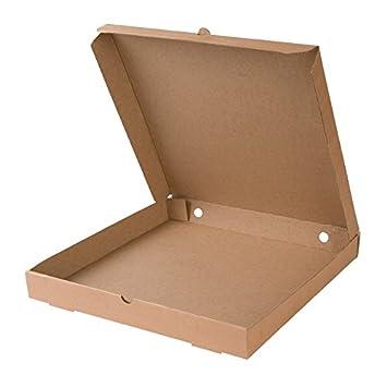 BIOZOYG 100x Caja para Pizza | Caja de cartón | 66% cartón Kraft Reciclado,