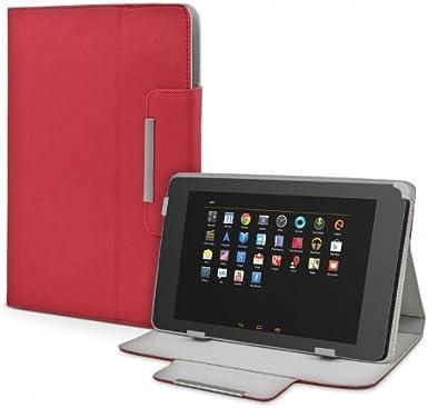 eFabrik Universal Funda para Tablet 10 – 10.1 Pulgadas de Tablet PC Funda Case Cover Accesorios – Funda con Soporte de Efecto de Piel Color Rojo: Amazon.es: Electrónica