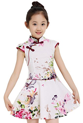 Suimiki Girls Kids China Style Chinese Qipao Cheongsam Dress Costume Top F160 (Chinese Dress Dresses Chinese)