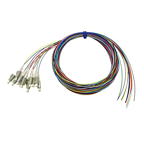 3m LC/PC multimode simplex 62.5 micron OM1 900um pigtail (12-pack) - color coded