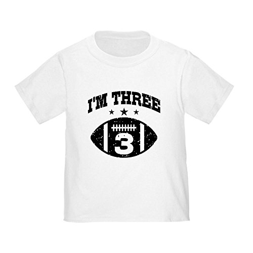 - CafePress Three Year Old Football Toddler T-Shirt Cute Toddler T-Shirt, 100% Cotton White