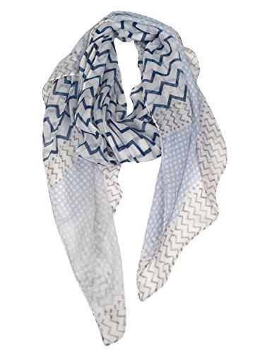 GERINLY Soft Stylish Shawl Wrap: Wave Stripe Print Lightweight Scarf (Stylish Wrap)