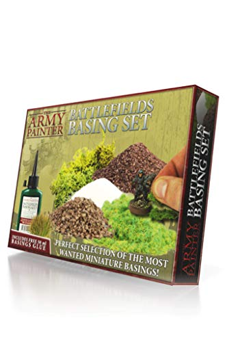 The Army Painter Battlefields Basing Set - Wargamers Terrain Model Kit for Miniature Bases and Dioramas with Landscape Rocks, Scenic Sand, Static Grass, Grass Tufts and Free Basing Glue