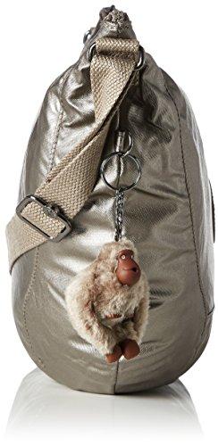Pewter Nille Kipling hombro Metallic Dorado Mujer de Shoppers bolsos y RzqrwR