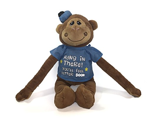 JoJo Hang in There Get Well Soon Plush Monkey 18 Inch