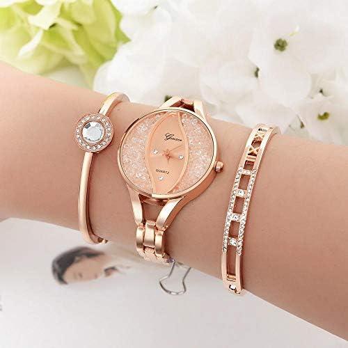 BAONIOU Montres Mesdames Watch Bracelet Set Strass Mesdames Bracelet Watch Casual Bracelet en Alliage Quartz Watch Clock