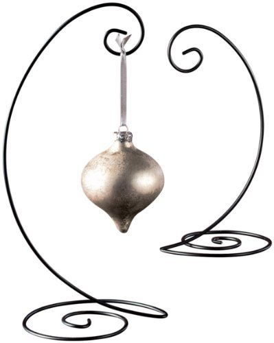 "13"" Spiral Ornament Display Stand - Black,large"