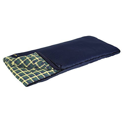 Eureka! Cayuga 15 Degree Sleeping Bag; Warm, Flannel-Lined Bag for Camp, Car, Cabin featuring Polyester Shell and Cotton Liner - Regular, Right Zip (Eureka Fiber Sleeping Bag)