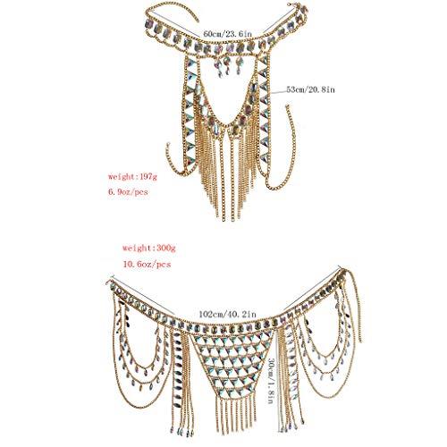Connie Cloris Women's Sexy Suit Body Chain (Gold Color-A- Body Chain Suit-3) by Connie Cloris (Image #3)