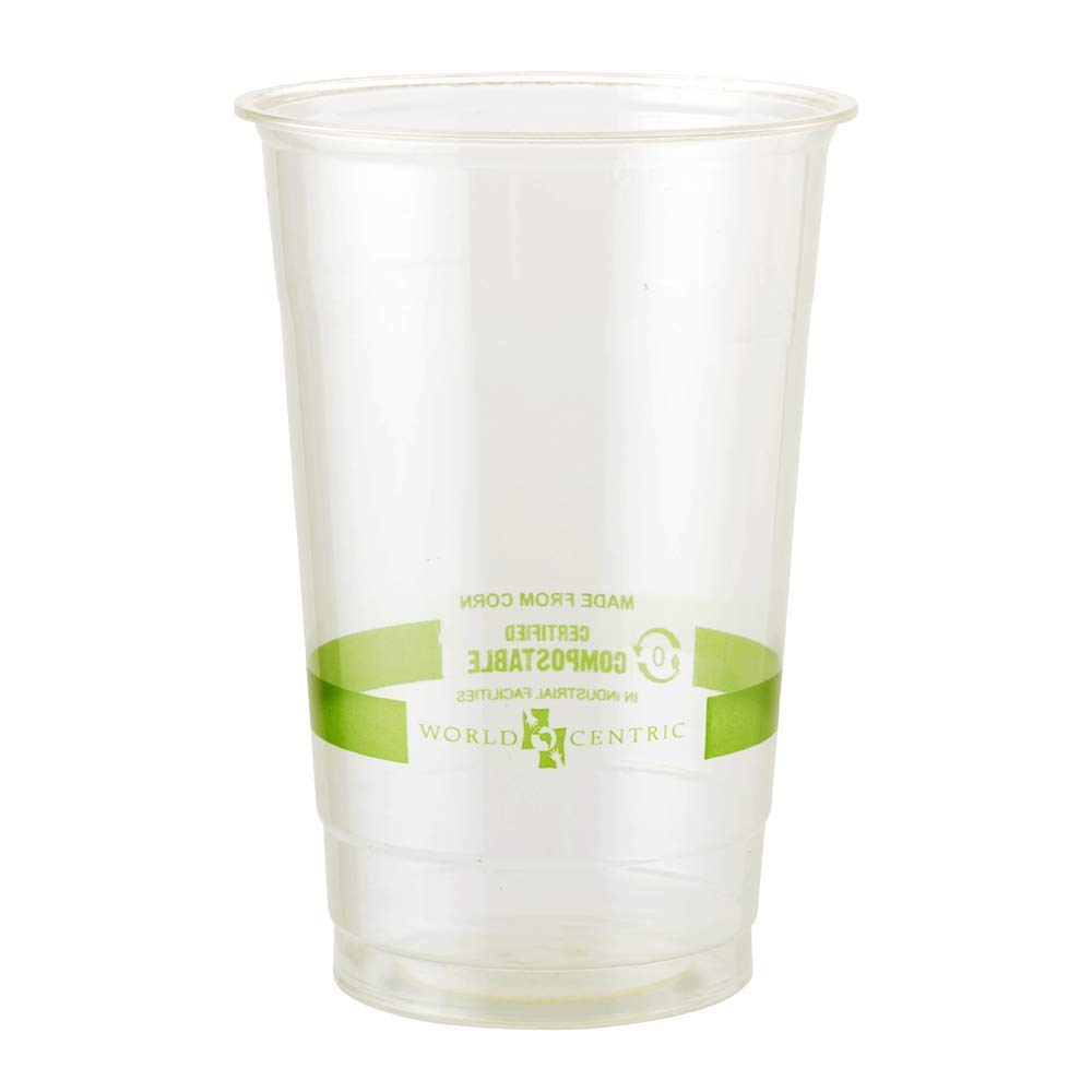 World Centric CP-CS-24 100% Compostable Ingeo Cold Cups, 24 oz, Clear (Pack of 1000)
