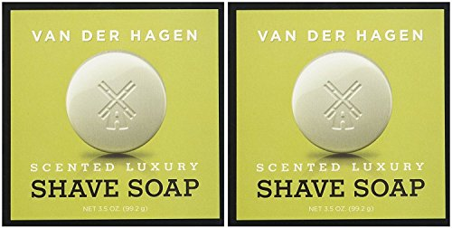 - Van Der Hagen Men's Luxury Scented Shave Soap, 3.5 Ounce (Pack of 2)