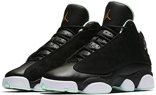 Jordan Kid's Air Retro 13 GG, Black / Metallic Gold - Mint Foam, Youth Size 4.5 by Jordan
