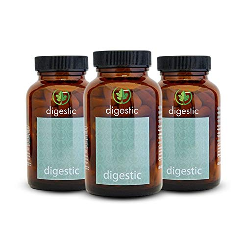 Digestic© - New - Constipation Relief - IBS Relief 100% Organic & Natural Ingredients - Digestive Supplements for Constipation Relief (Pack of 3)