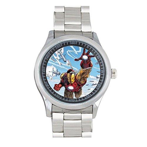 Custom Iron Man Watch Stainless Steel Sport Wristwatch - Iron Man Custom