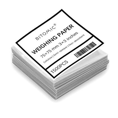 Bitomic 3x3 Cellulose Weighing Paper Sheet 500 Pcs