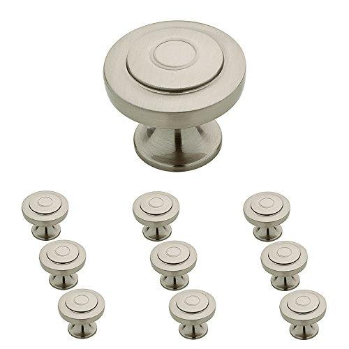 Franklin Brass P29526K-SN-B 1-1/4-Inch Geary Kitchen Cabinet Hardware Knob, Satin Nickel, 10 pack ()