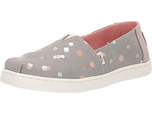 Toms Youth Size (TOMS Youth Alpargata Espadrille, Size: 1 M US Little Kid, Color: Drzl Grey Party)