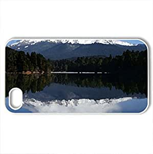 Beautiful View - Case Cover for iPhone 4 and 4s (Mountains Series, Watercolor style, White)