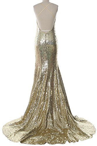 Prom Wedding Open Gown Evening MACloth Back Mermaid Dress Formal Women Minze Long twA60cqTp1