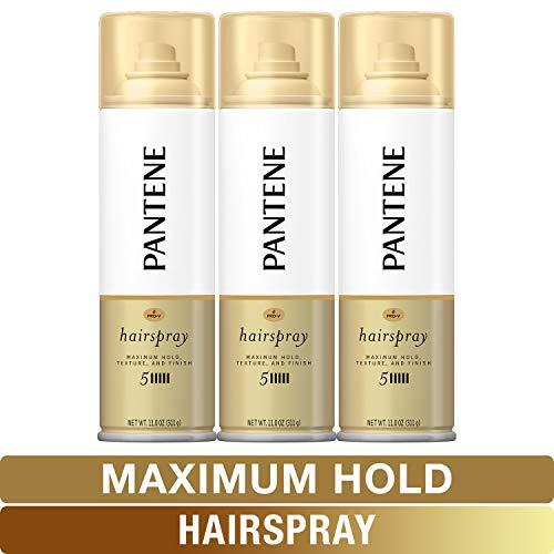 Pantene, Hairspray, Maximum Hold, Pro-V Level 5, Texture and Finish, 11 fl oz, Triple Pack