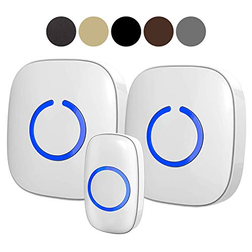 SadoTech Model CXR Wireless Doorbell, 2 Plugin Receivers with Easy Install, Over 1000-feet Range, 52 USA Chimes, Adjustable Volume and LED Flash (Best Bay Area Radio Stations)