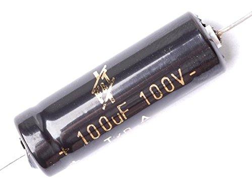 F&T Electrolytic Guitar Amp Capacitor, 100uF - 100V (100v Electrolytic Capacitor)