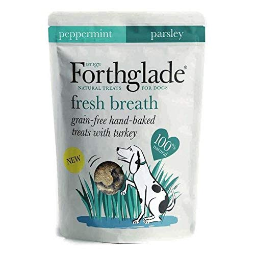4X Forthglade Fresh Breath Grain Free Treats Turkey, Peppermint & Parsley 150g