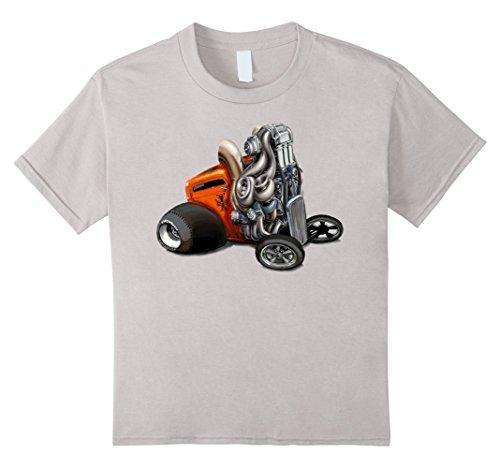 Kids Vintage Hotrod Rock&roll Classic Car T Shirt 4 (Youth Hot Rod)