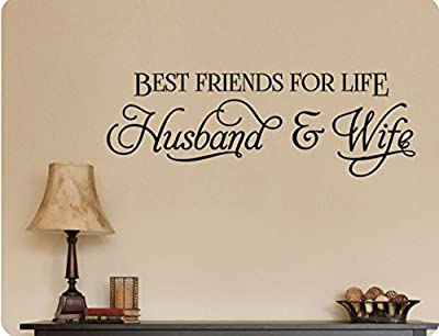 """34""""x12"""" Best Friends For Life Husband And Wife Romance Marriage Anniversary Wall Decal Sticker Art Mural Home DŽcor Quote"""