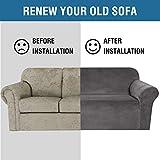 H.VERSAILTEX Stretch Velvet Sofa Covers for 3