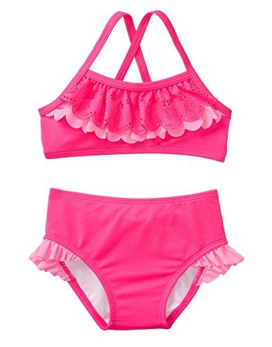 Gymboree Baby Girls 2-Piece Ruffle Bikini, Fuchsia, 4T