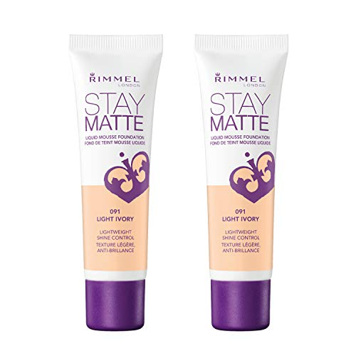 - Rimmel Stay Matte Foundation, Light Ivory, 2 Count