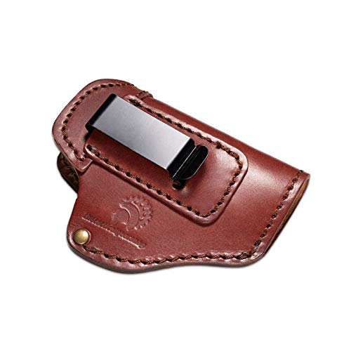 IWB Inside The Waistband Pistol Holster Fits Glock 43 ,42 ,Ruger LC9, Ruger LCP, Universal Concealed Carry CC Holster
