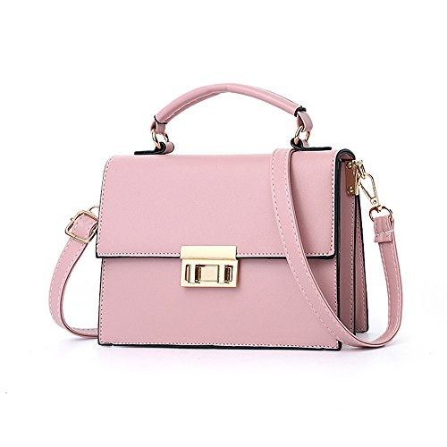 Single Women'S Shoulder Square Girl Bag Hand Pink Spans Small Held wPvq1w