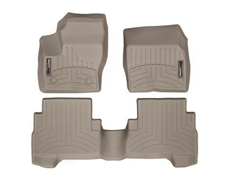 2013-2016 Ford Escape-Weathertech Floor Liners-Full Set (Includes 1st and 2nd Row) Tan