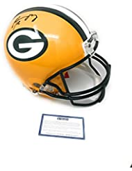 Aaron Rodgers Green Bay Packers Signed Autograph Full Size Proline Authentic Helmet Steiner Sports Certified