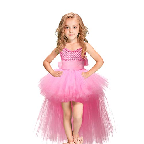 Yuehjnba Girls one-Piece Swimsuit Children's Wear Halloween Christmas Performance Show Show Girl Lace Puff Princess Sling Trail Dress Children's Swimsuit Side-Piece Swimsuit for Girls -