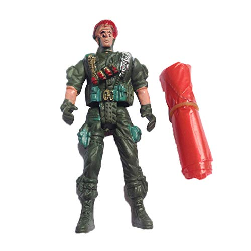 Yinpinxinmao Army Movable Soldier Parachute Airborne Game Action Figures Collection Kids Toy Random Color & Style ()
