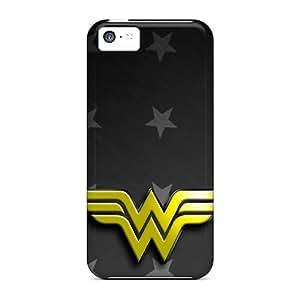 WayneSnook Apple Iphone 5c Perfect Hard Phone Cover Unique Design Colorful Wonder Woman Logo Pictures [seT684ykdd]