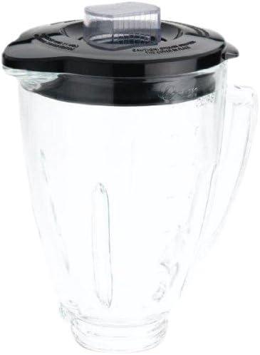 Oster BLSTAJ-CB - Tarro de cristal (6 tazas), color negro: Amazon.es