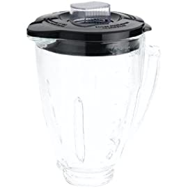 Oster blender 6-cup glass jar, lid, black and clear 1 refresh your blender: 3-piece blender jar refresher kit gives you the additional jar you need if replacing an old one, or if you are entertaining large groups includes: one 6-cup glass jar, 1 lid, and 1 filler cap durable glass design: dishwasher-safe, scratch-resistant boroclass glass jar is thermal shock tested