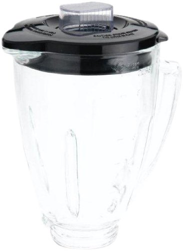 Oster BLSTAJ-CB Blender 6-Cup Glass Jar - Black - Glasses For Filler Scratch